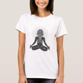 インドのヨーガ行者のプリント Tシャツ