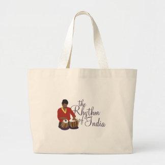 インドのリズム ラージトートバッグ