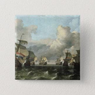 インドの会社1675年のオランダの艦隊 5.1CM 正方形バッジ