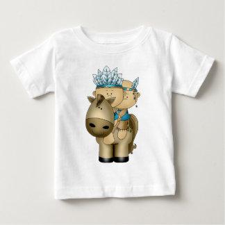 インドの友達の可愛い人w/HorseのTシャツ ベビーTシャツ