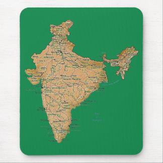 インドの地図のマウスパッド マウスパッド
