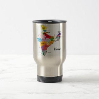 インドの地図のマグ トラベルマグ