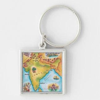 インドの地図 キーホルダー
