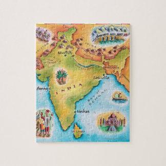 インドの地図 ジグソーパズル