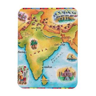 インドの地図 マグネット