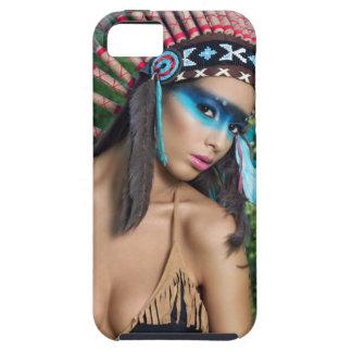 インドの女の子、ネイティブアメリカン iPhone SE/5/5s ケース