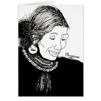インドの女性メッセージカードの完全なイメージ ノートカード