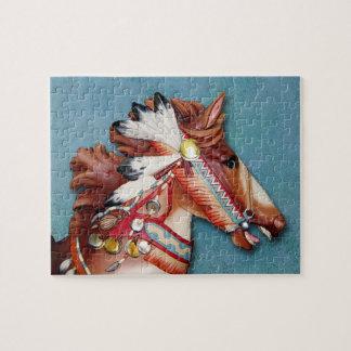 インドの子馬の頭部のパズル ジグソーパズル