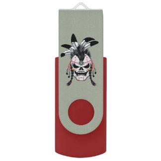 インドの戦士のスカル USBフラッシュドライブ