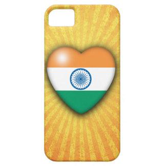 インドの旗のハートの日が差すことの背景のiPhone 5の場合 iPhone SE/5/5s ケース