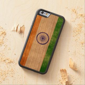 インドの旗の電話箱 CarvedチェリーiPhone 6バンパーケース