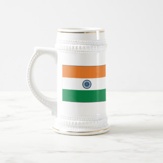 インドの旗の~の地図のマグ ビールジョッキ