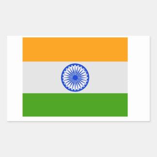 インドの旗 長方形シール