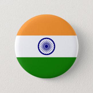 インドの旗 5.7CM 丸型バッジ