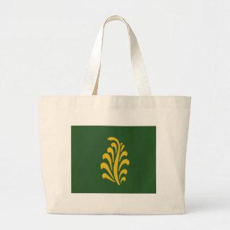 インドの民族の花パターン ラージトートバッグ