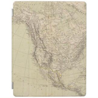 インドの種族を示す北アメリカの地図書の地図 iPadスマートカバー