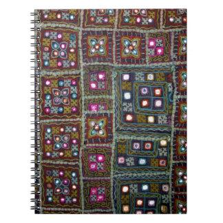 インドの織物のノート ノートブック