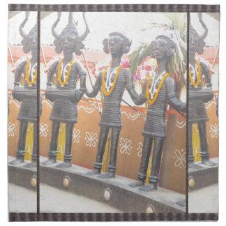 インドの芸術の田園技術の彫像のフェスティバルニューデリー ナプキンクロス