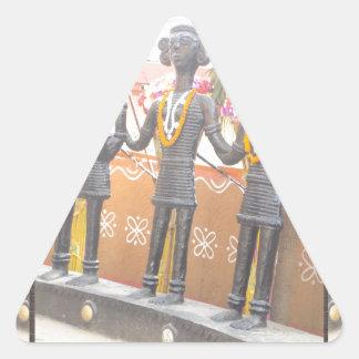 インドの芸術の田園技術の彫像のフェスティバルニューデリー 三角形シール