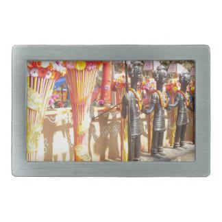 インドの芸術nの技術はsurajkundのmelaニューデリーを示します 長方形ベルトバックル