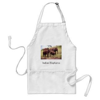 インドの野生象 スタンダードエプロン
