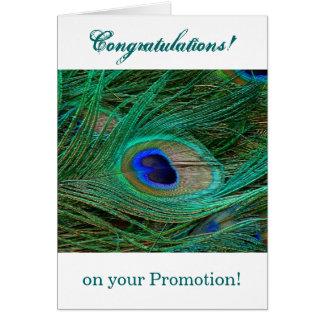 インドの青い孔雀の羽 グリーティングカード