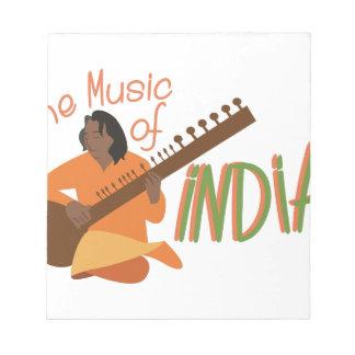 インドの音楽 ノートパッド