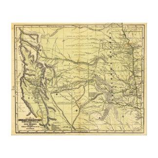 インドの領域のJosiah Gregg 1844の地図 キャンバスプリント