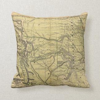 インドの領域のJosiah Gregg 1844の地図 クッション
