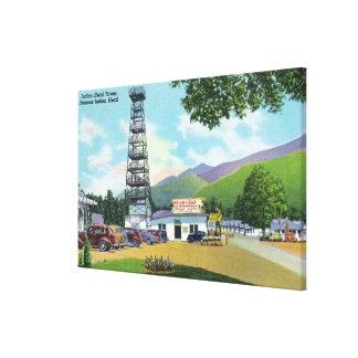 インドの頭部およびインディアンヘッドタワーの眺め キャンバスプリント