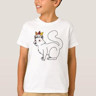インドの頭飾りを持つ感謝祭の白子のアライグマ Tシャツ