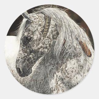 インドの馬のステッカー ラウンドシール