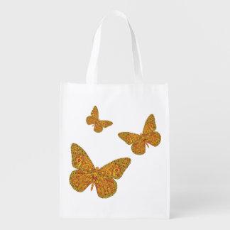 インドの(昆虫)オオカバマダラ、モナークの再使用可能な買い物袋 エコバッグ