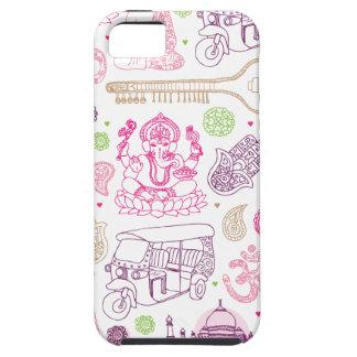 インドのganeshaのヨガの芸術のiphoneの場合 iPhone SE/5/5s ケース
