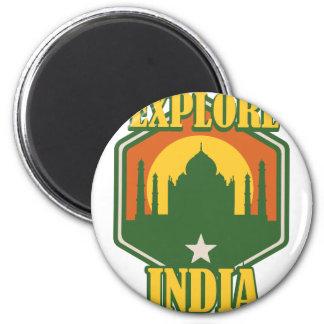 インドを探検して下さい マグネット