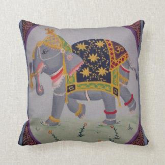 インドゾウの絵画の枕 クッション