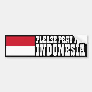 インドネシアのために祈って下さい バンパーステッカー