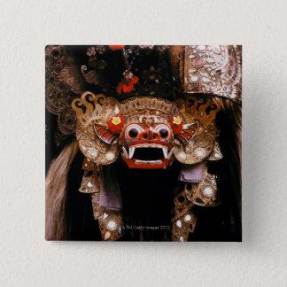インドネシアのマスク 5.1CM 正方形バッジ
