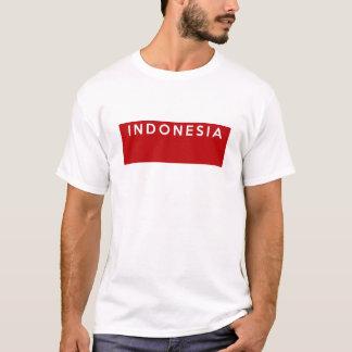 インドネシアの国旗の文字の名前 Tシャツ