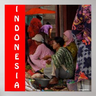 インドネシアの市場 ポスター