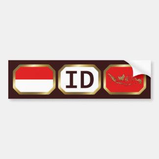 インドネシアの旗の地図コードバンパーステッカー バンパーステッカー