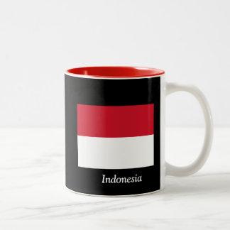 インドネシアの旗 ツートーンマグカップ