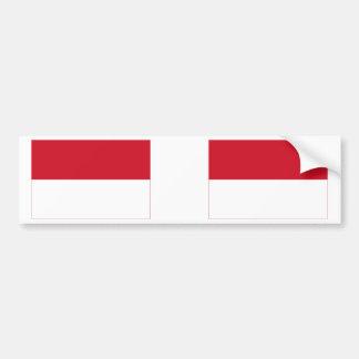 インドネシアの旗 バンパーステッカー