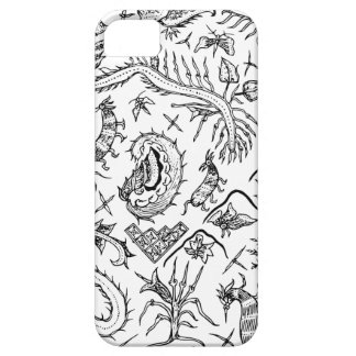 インドネシアの昆虫及び植物の織物パターン iPhone SE/5/5s ケース