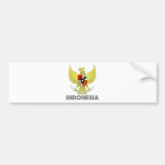 インドネシアの紋章付き外衣 バンパーステッカー