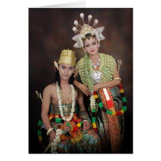 インドネシアの結婚式のお祝いカード カード