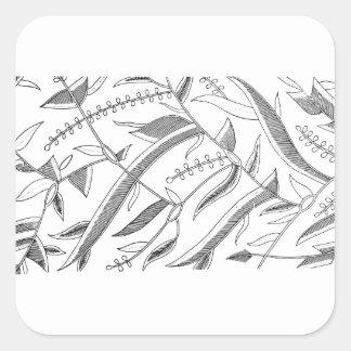 インドネシアの葉が多い織物 スクエアシール
