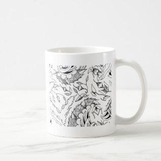 インドネシアの野生動植物の織物 コーヒーマグカップ