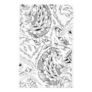 インドネシアの野生動植物の織物 便箋