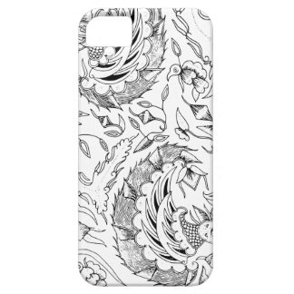 インドネシアの野生動植物の織物 iPhone SE/5/5s ケース